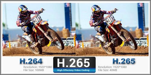 компресия: H.265+/H.265