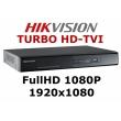 16 канален професионален цифров видеорекордер HIKVISION DS-7216HQHI-F2/N/A Поддържа 16 HD-TVI/AHD/CVI камери до 2 мегапиксела или 16 аналогови камери