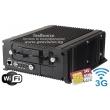 4 канален мобилен HD-TVI видеорекордер за видеонаблюдение в превозни средства: HIKVISION DS-MP7504/GLF/WI, с вграден 3G модул за СИМ карта и вграден Wi-Fi модул