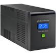 UPS PowerWalker VI2000PSW, 2000VA 1400W Max, Line Interactive, чиста синусоида, 2 Батерии 12V/10 Ah, LCD панел, RJ45 защита