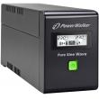 UPS PowerWalker VI600SW, 600VA 360W Max, Line Interactive, чиста синусоида, 1 Батерия 12V/7 Ah, LCD панел, RJ45 защита