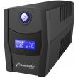 Непрекъсваемо токозахранващо устройство /UPS/ Line Interactive, симулирана синусоида: PowerWalker VI800STL, 800VA 480 Watt Max, USB, 2xSchuko контакта, 1 Батерия 12V/7.2 Ah