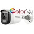 HD-TVI/AHD/CVI/CVBS камера HIKVISION DS-2CE10DFT-F: 2 мегапиксела 1920x1080 px. Обектив: фиксиран 3.6 mm. С вградено бяло LED осветление до 20 метра ColorVu и Ultra Low Light технология