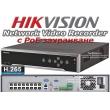32 канален професионален IP мрежов видеорекордер/сървър (NVR) HIKVISION: DS-7732NI-K4/16P С вградени 16 захранващи LAN PoE порта. Поддържа 32 мрежови IP камери до 8 MPX. H.265+/H.265 компресия
