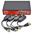 Wi-Tek WI-POC104 - 4 канален активен приемник и предавател за пренос на видео сигнал и захранване DC12V - 1 Amp по UTP кабел на разстояние до 100 метра