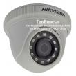 HD-TVI/AHD/CVI/CVBS куполна камера HIKVISION DS-2CE56D0T-IRPF: 2 мегапиксела 1920x1080 px, Обектив: фиксиран 2.8 mm, за вътрешен монтаж