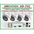 КОМПЛЕКТ ЗА ВИДЕОНАБЛЮДЕНИЕ - 2 мегапиксела FullHD 1080p, с 4 инфрачервени куполни камери за външен и вътрешен монтаж с вградени микрофони /Audio Over Coaxial/