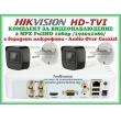 КОМПЛЕКТ ЗА ВИДЕОНАБЛЮДЕНИЕ - 2 мегапиксела FullHD 1080p, с 2 инфрачервени корпусни камери за външен и вътрешен монтаж с вградени микрофони /Audio Over Coaxial/