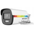 HD-TVI/AHD/CVI/CVBS камера HIKVISION DS-2CE12DF8T-F: 2 мегапиксела 1920x1080 px. С вградено бяло LED осветление ColorVu до 40 метра и алармена светлина, Обектив: фиксиран 3.6 mm
