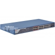 HIKVISION DS-3E1326P-EI: Управляем 26 портов суич с 24 x 10/100 Mbps PoE порта + 2 x 1 Gbps  combo uplink порта (2 cooper + 2 SPF), до 30 W на порт. Общ PoE капацитет 370 W