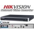 8 канален професионален 4K IP мрежов видеорекордер/сървър (NVR) HIKVISION: DS-7608NI-I2. Поддържа 8 мрежови IP камери до 12 MPX. 2 SATA диска до 8 TB всеки. H.265+/H.265 компресия