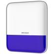 HIKVISION DS-PS1-Е-WE: Безжична сирена за външен монтаж, мощност 110 dB и вградена стробоскопична синьо-червена алармена светлина