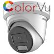 Мрежова IP куполна камера HIKVISION DS-2CD2327G2-LU - 2 мегапиксела, с AcuSense технология и DEEP LEARNING алгоритъм, Обектив 4 mm, бяло LED осветление ColorVu и вграден микрофон