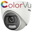 HD-TVI/AHD/CVI/CVBS куполна камера HIKVISION DS-2CE72HFT-F28: 5 MPX 2560x1944 px. ColorVu с вградено бяло LED осветление до 20 метра, обектив 2.8 mm