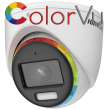 HD-TVI/AHD/CVI/CVBS куполна камера HIKVISION DS-2CE70DF8T-MFSLN: 2 MPX 1920x1080 px. ColorVu с вградено бяло LED осветление до 20 метра и микрофон Audio Over Coaxial, обектив 2.8 mm