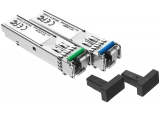 SFP оптичен модул UTEPO SFP-155M-20KM-TX/RX: Single mode, Single fiber, 155 Mbps/20 km, LC/PC сокет, комплект предавател/приемник (1310 nm/1510nm)