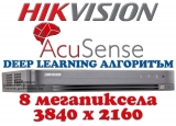 4 канален професионален 4K цифров видеорекордер HIKVISION iDS-7204HUHI-M1/S/A. Вграден Deep Learning алгоритъм за разпознаване на човешки лица на 1 канал и за класификация на хора и превозни средства